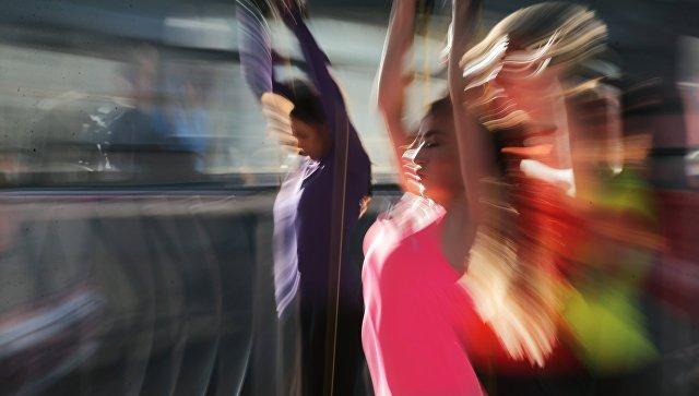 Участники фитнес-тренировки
