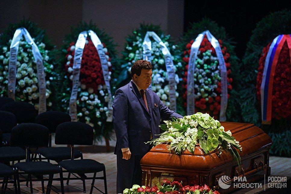 Депутат Государственной Думы РФ, певец Иосиф Кобзон на церемонии прощания с оперным певцом Дмитрием Хворостовским. 27 ноября 2017