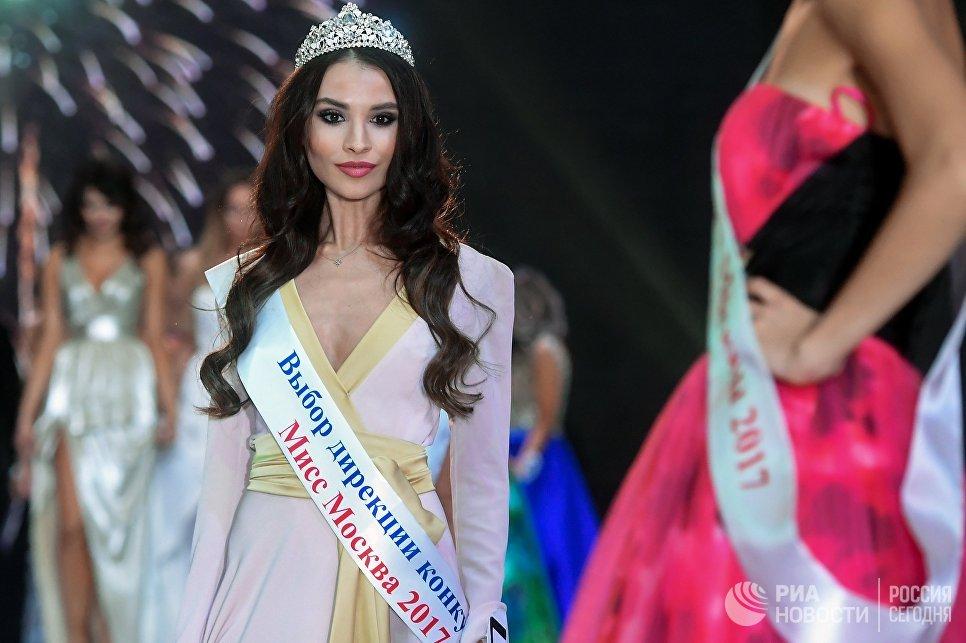 Алина Матус в финале конкурса Мисс Москва-2017 на сцене театрально-концертного зала Мир в Москве