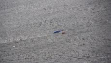Катер, перевернувшийся в акватории Финского залива. 28 ноября 2017