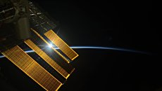 Рассвет на Международной космической станции. Архивное фото