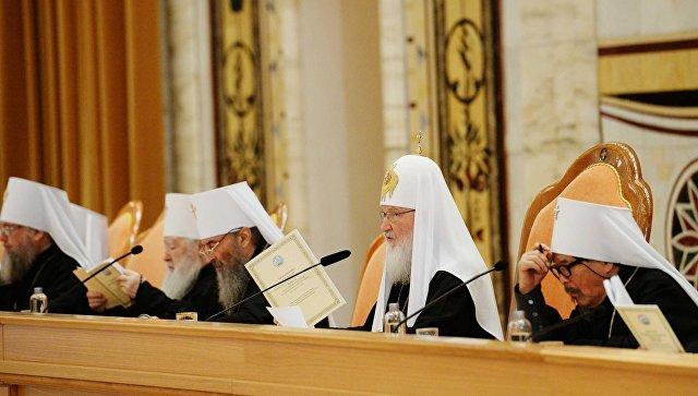 Патриарх Московский и всея Руси Кирилл на заседании Архиерейского собора 2017