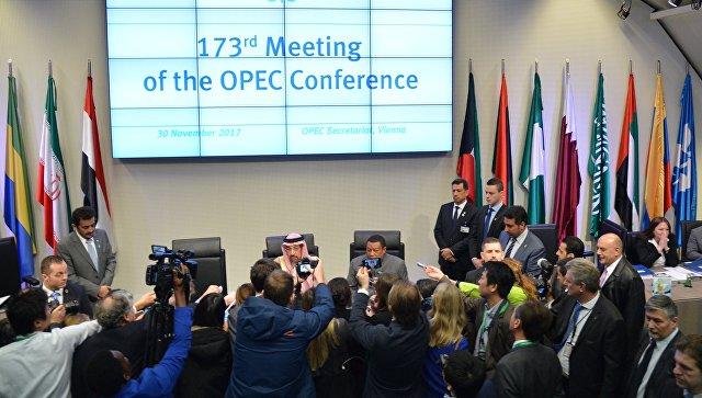 Соглашение поограничению добычи нефти страны ОПЕК+ продлили доконца 2018-ого года