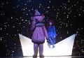 Муся Тотибадзе в роли Матильды на прогоне спектакля Синяя синяя птица в постановке Олега Глушкова на сцене Государственного театра наций
