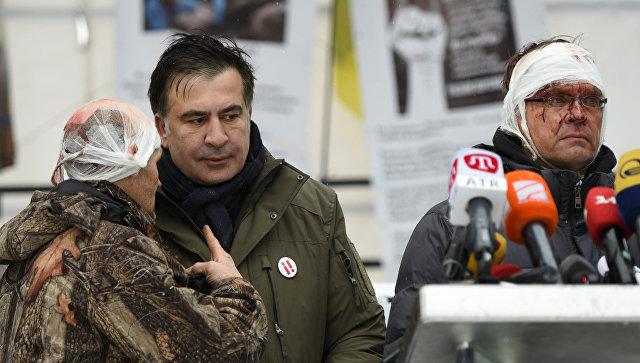 ВКиеве при попытке задержания Саакашвили уРады пострадали 10 человек
