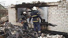 Ликвидация последствий обстрела со стороны ВСУ поселка Красный Яр в пригороде Луганска. 6 декабря 2017