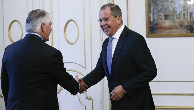 Встреча министра иностранных дел России Сергея Лаврова и госсекретаря США Рекса Тиллерсона в Вене. 7 декабря 2017