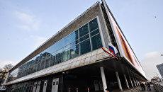 Здание кинотеатра Октябрь в Москве. Архивное фото