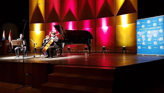 Выступление российских музыкантов в концертном зале оперы имени Асада в Дамаске. 11 декабря 2017