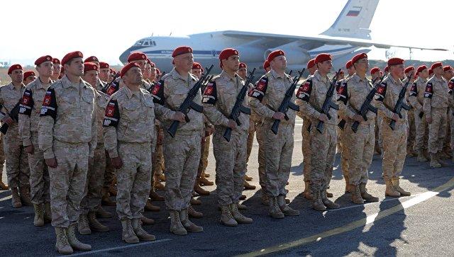 Российские военнослужащие в Сирии.