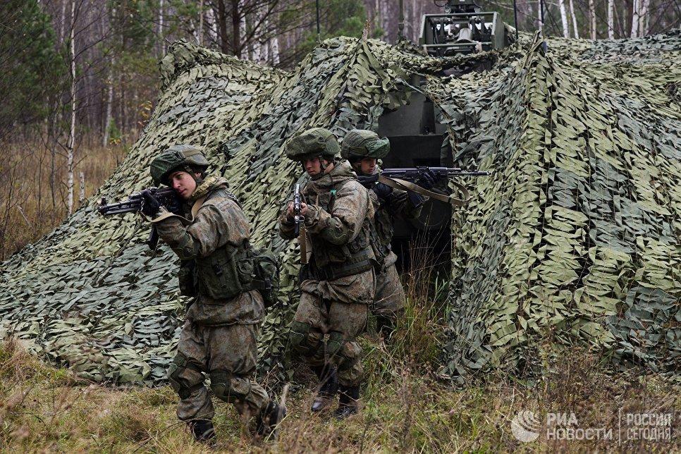 Военнослужащие Новосибирского ракетного соединения РВСН