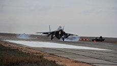 В Астраханскую область прибыли самолеты МиГ-29СМТ после успешного выполнения задач в Сирии. 13 декабря 2017
