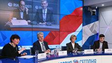 Участники Видеомоста Москва – Лондон – Минск – Астана на тему: Точки роста в международных академических рейтингах.