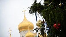 Новогодняя елка на Соборной площади Кремля. Архивное фото
