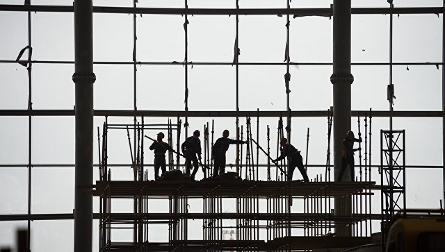 Строительство нового терминала аэропорта Симферополь. Архивное фото