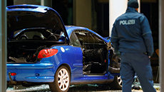 Автомобиль протаранил здание штаб-квартиры Социал-демократической партии Германии в Берлине. 25 декабря 2017