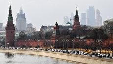 Московский Кремль и Кремлевская набережная. Архивное фото