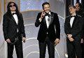 Победа в номинации Лучший актер в комедии или мюзикле досталась Джеймсу Франко, сыгравшему Томми Вайсо в фильме Горе-творец.