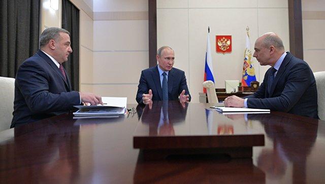 Путин, Силуанов иПучков согласовали параметры госпрограммы вооружений полинии МЧС