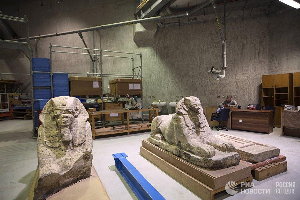 Мастерская реставрации Великого Египетского музея в Гизе