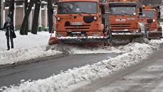 Уборка снега. Архивное фото