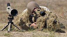 Украинский снайпер. Архивное фото