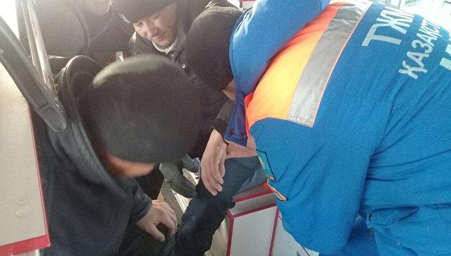 В Казахстане рассказали о состоянии выживших при пожаре в автобусе