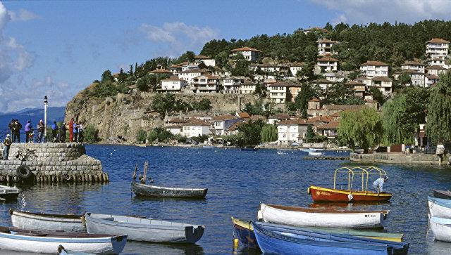 Вид на город Охрид в Македонии. Архивное фото
