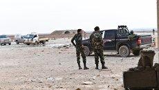 Сирийские военные в аэропорту Абу-Дхоу в провинции Идлиб, Сирия. Архивное фото