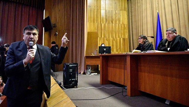 Михаил Саакашвили в Апелляционном суде в Киев. 22 января 2018