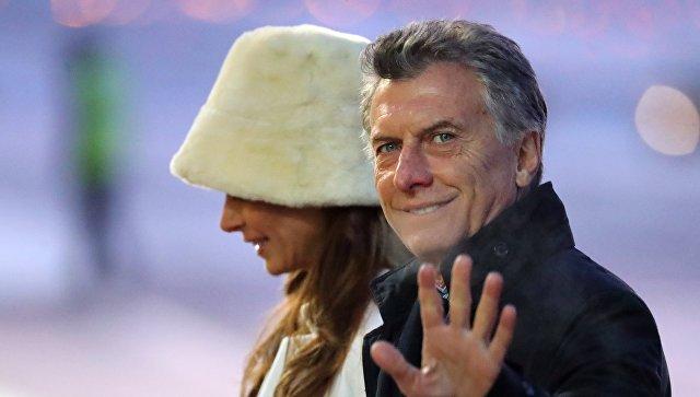 Президент Аргентины Маурисио Макри с супругой Хулианой Авадой. Архивное фото