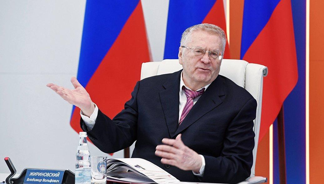 Кандидат в президенты РФ от ЛДПР Владимир Жириновский. Архивное фото