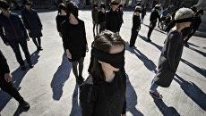 Феминистки празднуют Международный женский день. Архивное фото