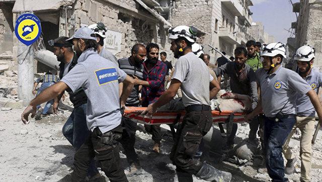 Активисты из организации Белые каски в Алеппо, Сирия. 21 сентября 2016  год