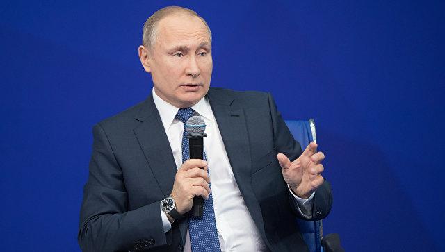Кандидат в президенты РФ Владимир Путин. Архив