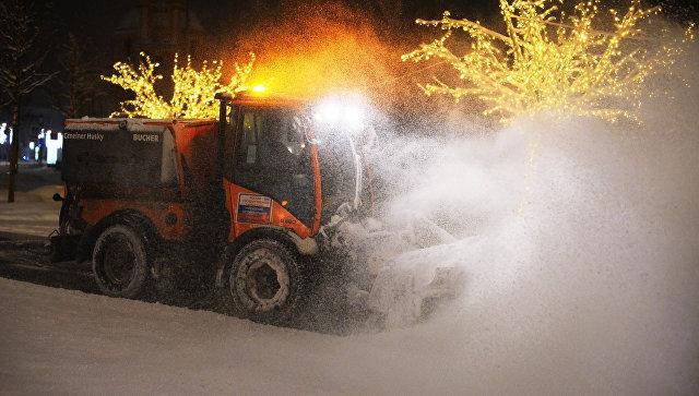 Уборка снега в Москве. 31 января 2018