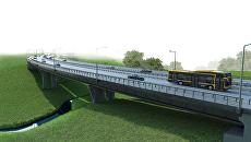 Визуализация проекта моста через ручей Молодцы