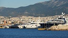 Яхты в порту Афин. Архивное фото