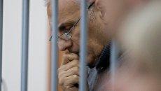 Бывший губернатор Сахалинской области Александр Хорошавин во время оглашения приговора в Южно-Сахалинском городском суде. Архивное фото