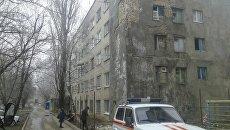 Обрушение кирпичной кладки стены жилого дома в Ставропольском крае. 8 февраля 2018