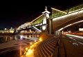 Пешеходный мост у Киевского вокзала