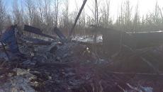 На месте аварийной посадки вертолета Ми-8 в Томской области