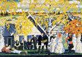 Деревенский праздник, 1910. Картон, темпера, графит, гуашь. Государственный Русский музей