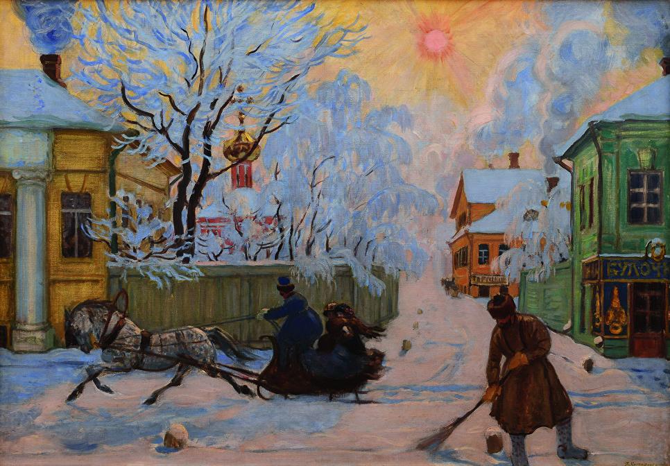 Морозный день, 1913. Холст, масло. Саратовский государственный художественный музей имени А.Н. Радищева