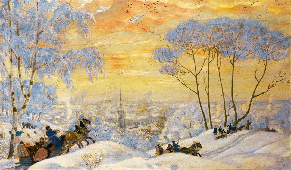 Масленица, 1916. Холст, масло. Государственный Русский музей
