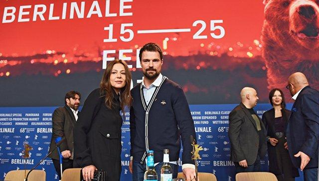 Российские актеры Елена Лядова и Данила Козловский на 68-м Берлинском международном кинофестивале