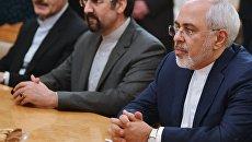 Министр иностранных дел Ирана Мухаммад Джавад Зариф на встрече с министром иностранных дел России Сергеем Лавровым. 19 февраля 2018