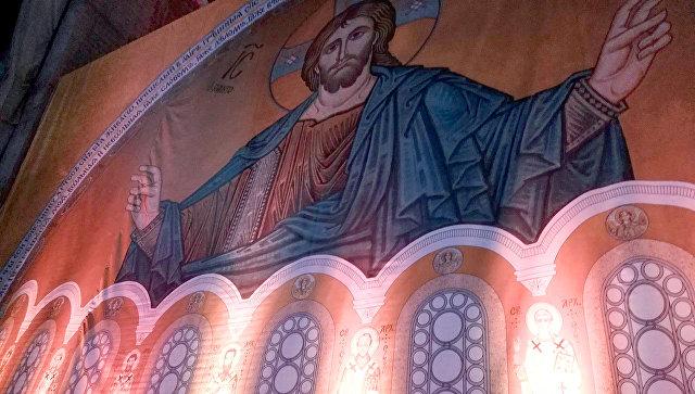 Убранство белградского храма Cвятого Саввы. Архивное фото