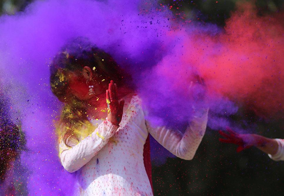 Фестиваль красок Холи в Бхопале