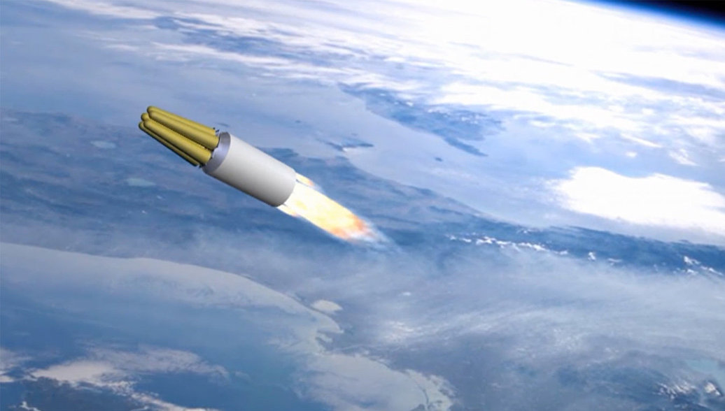Принцип действия ракетного комплекса стратегического назначения Сармат. Архивное фото